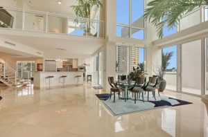 Penthouse Condo at The Plaza at Oceanside One in Pompano Beach